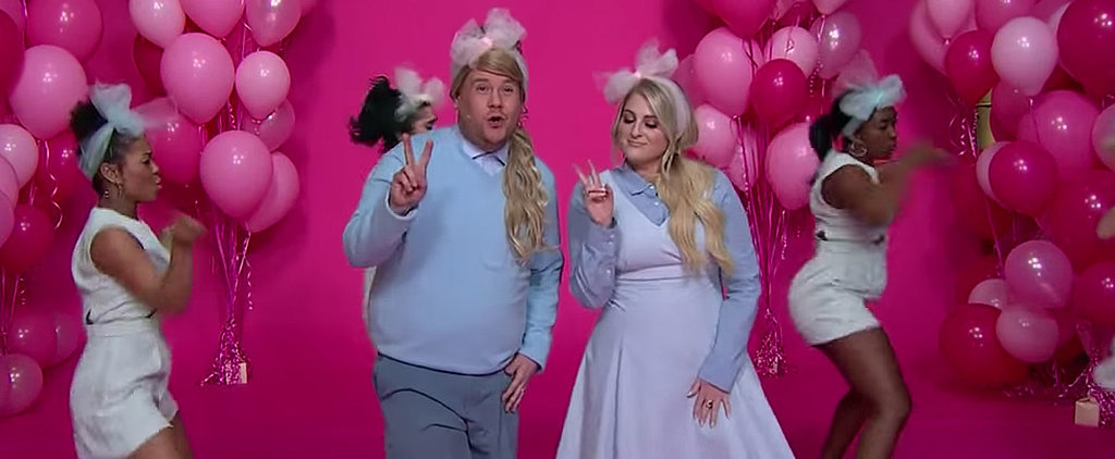 "Meghan Trainor Helps James Corden Keep His New Year's Resolutions With a Hilarious ""All About That Bass"" Parody"