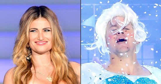 Here's How Idina Menzel Reacted to Channing Tatum's 'Let It Go' Lip-Sync Battle