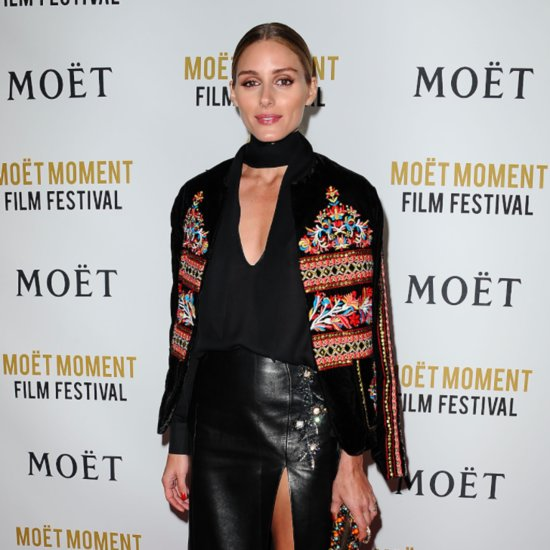 Olivia Palermo Wearing a Leather Skirt