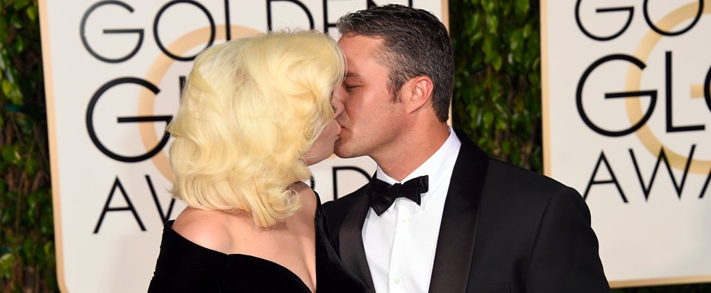 Lady Gaga and Taylor Kinney Pack On the PDA at the Golden Globes