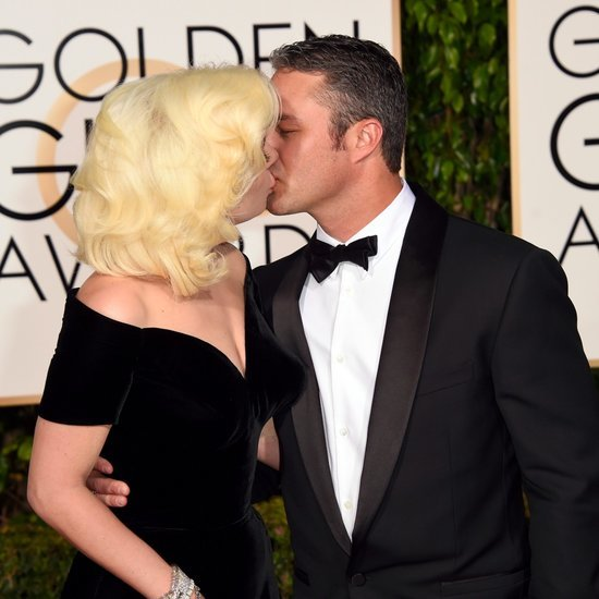 Lady Gaga and Taylor Kinney Golden Globes 2016 Pictures