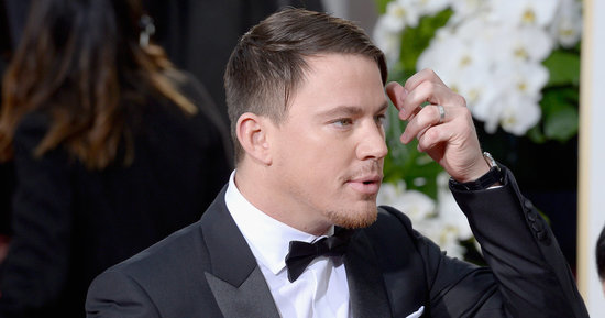 What Is Happening With Channing Tatum's Hair On The Golden Globes Red Carpet?