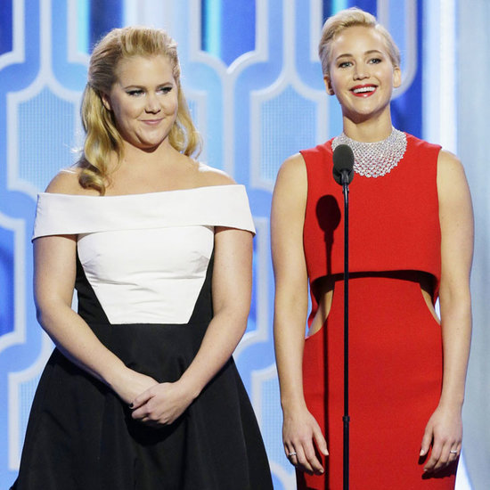 Jennifer Lawrence and Amy Schumer Golden Globes Speech 2016
