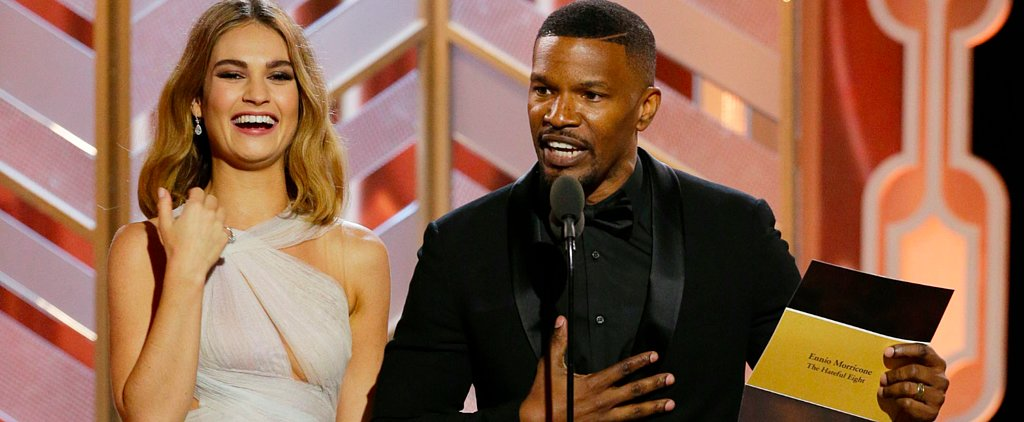 Jamie Foxx Throws Shade, Then Pokes Fun at Steve Harvey at the Golden Globes