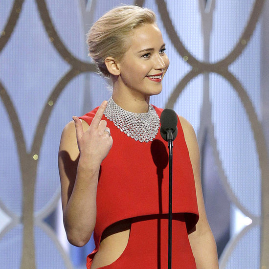 Jennifer Lawrence Calling Out a Reporter at Golden Globes