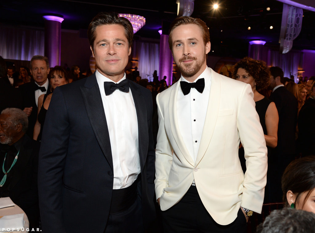 Brad Pitt and Ryan Gosling nearly gave us heart palpitations in this snap.