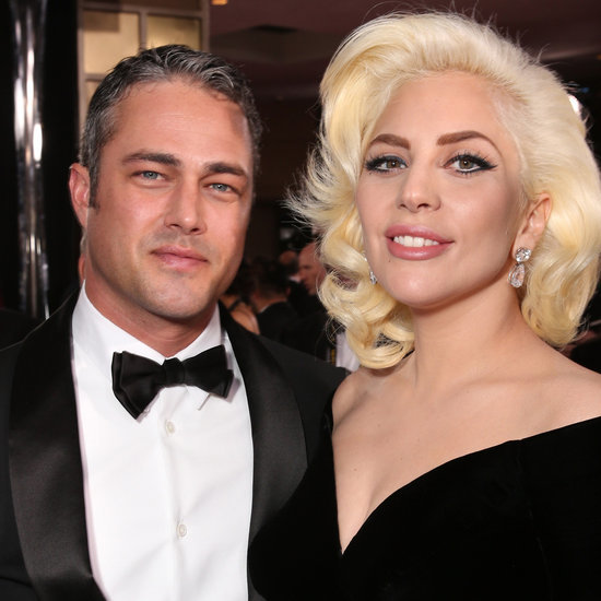 Lady Gaga Thanking Taylor Kinney at the Golden Globes 2016