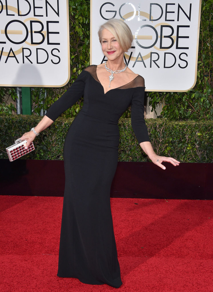Helen Mirren was the picture of red carpet royalty.