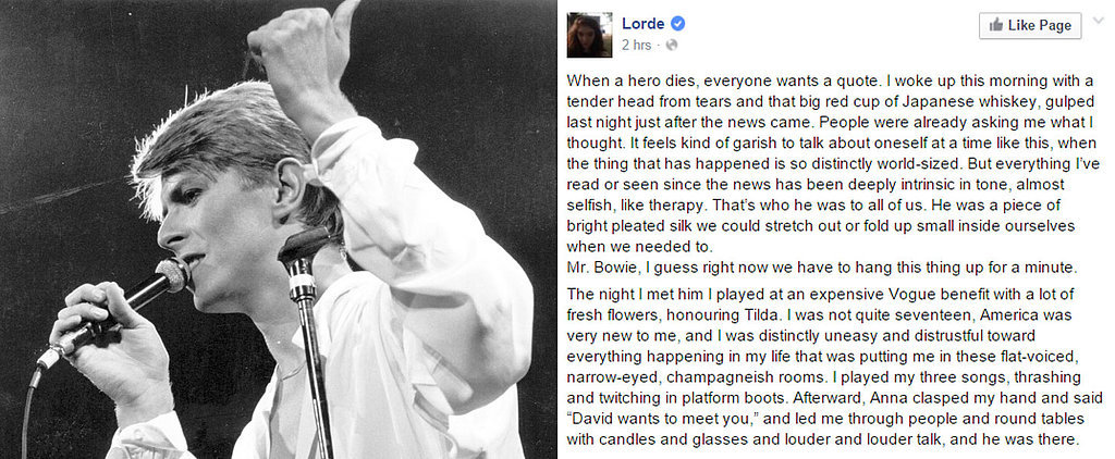 The World Mourns David Bowie: Read the Most Touching Celebrity Tributes Here