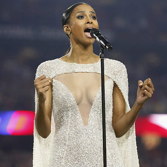 Ciara's Dress at Championship Football Game
