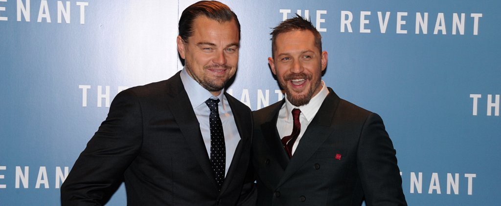 Oscar Nominees Leonardo DiCaprio and Tom Hardy Bring Their Good Looks to London