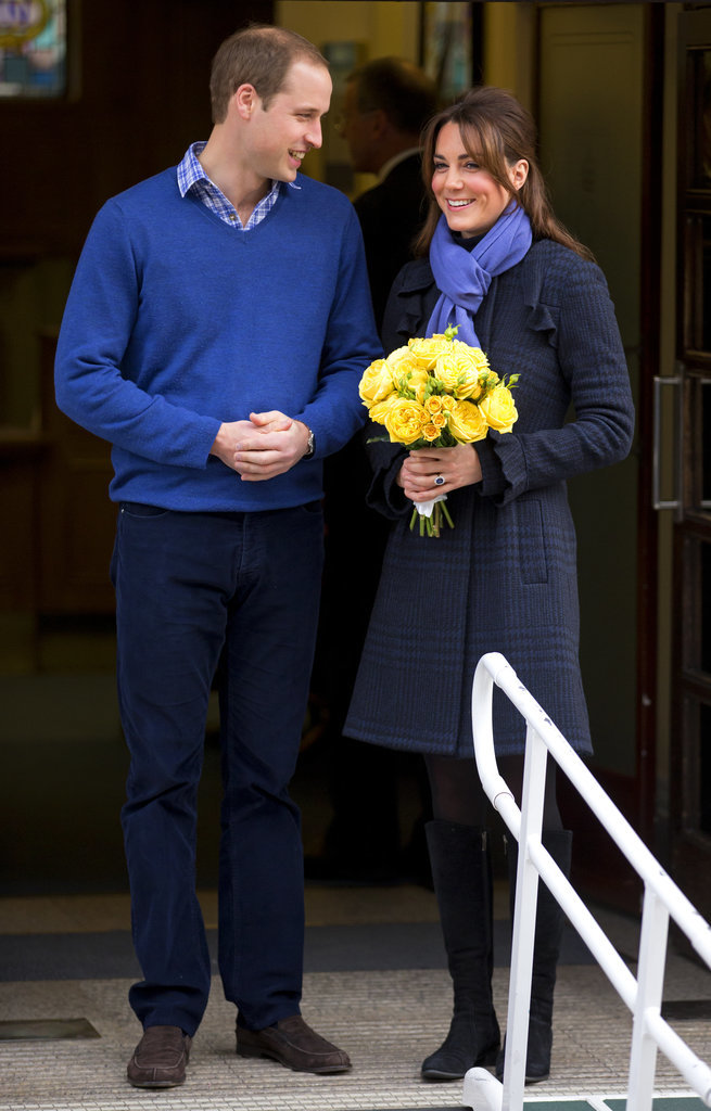 Kate Wore a Periwinkle Scarf to Complement William's Sweater