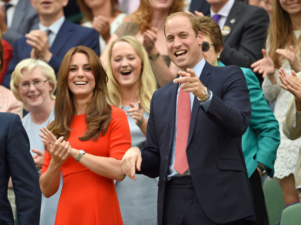 The Pair Opted For Orange on a Sunny Day at Wimbledon