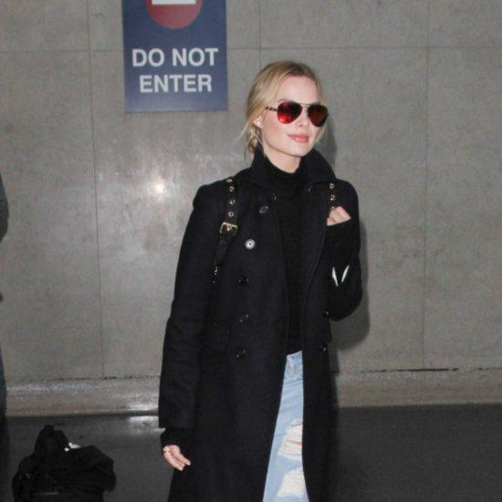 Margot Robbie Wearing Slip-On Shoes
