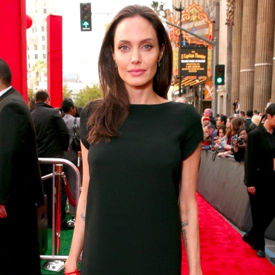 Angelina Jolie Wearing Black Mini Dress