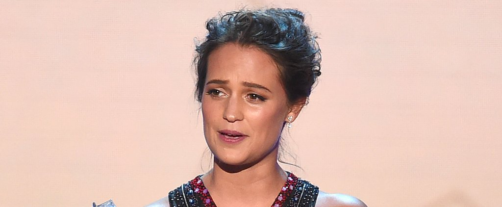 Alicia Vikander Gives a Shout-Out to Eddie Redmayne During Her Acceptance Speech