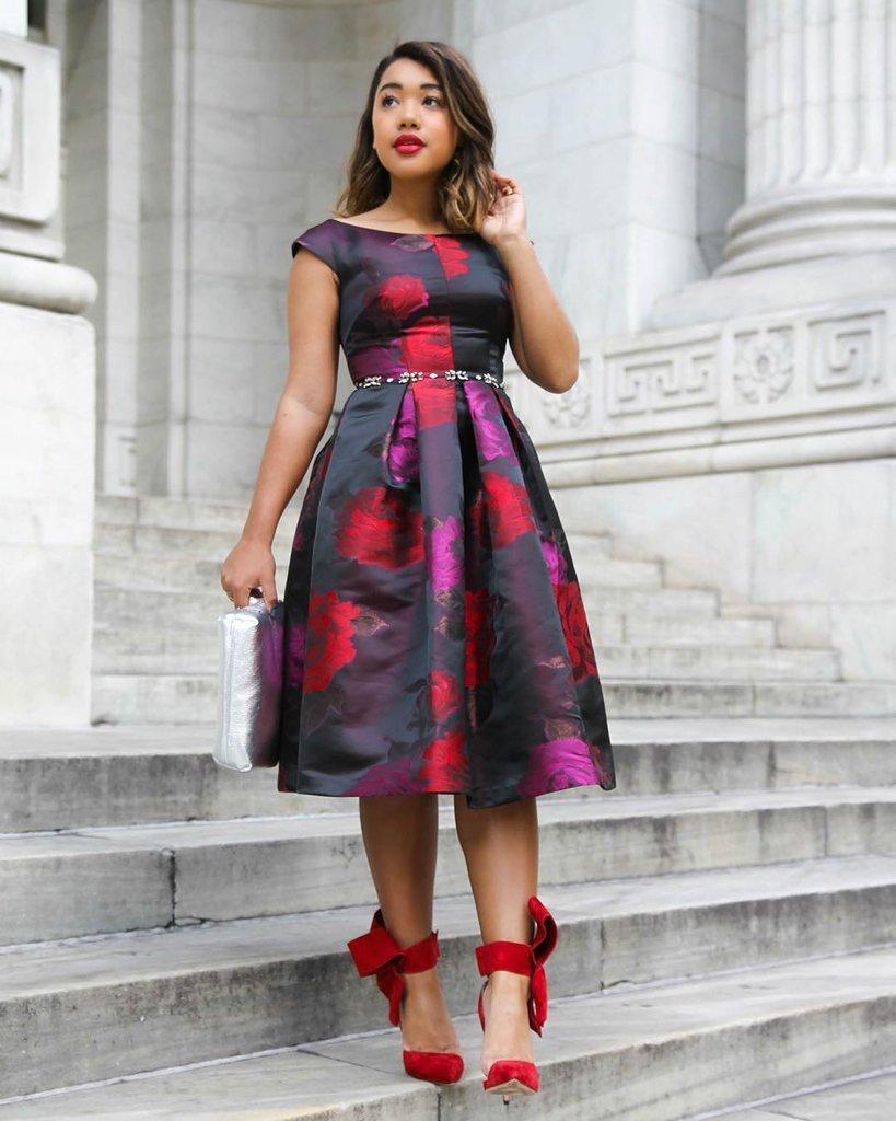 An Elegant Midi Dress