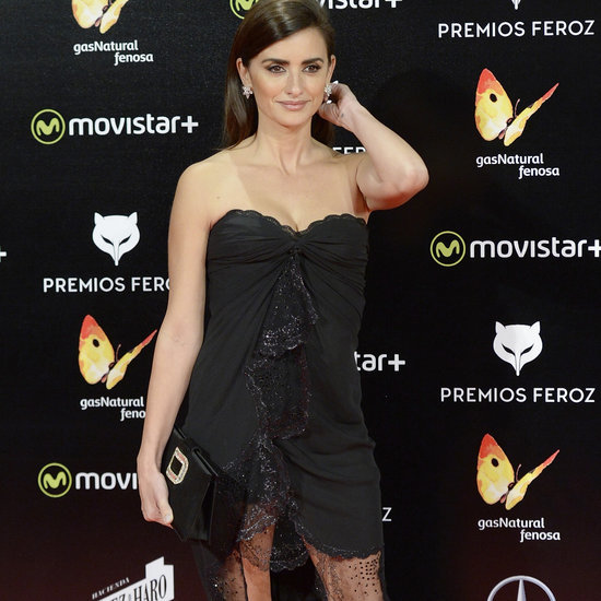 Penelope Cruz Wears a Vintage Ungaro Black Dress