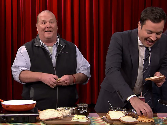 Can Jimmy Fallon Make a Better Grilled Cheese Than Mario Batali? Watch the Face-Off — and Get the Recipes