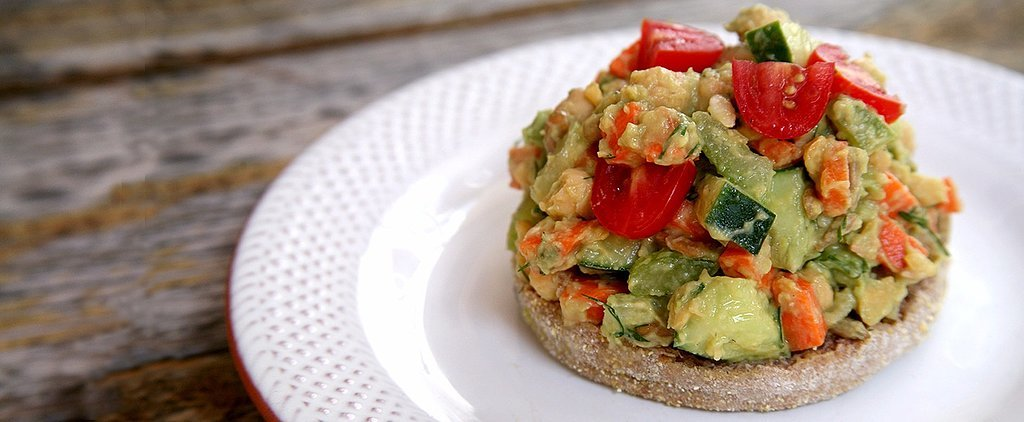 This Smashed Avocado Chickpea Salad Is Bursting With Protein
