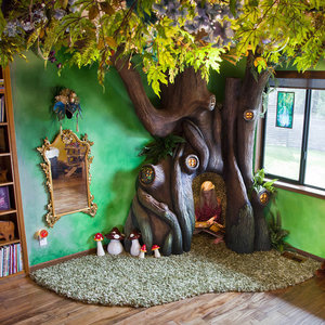 Dad Builds Tree in Daughter's Room