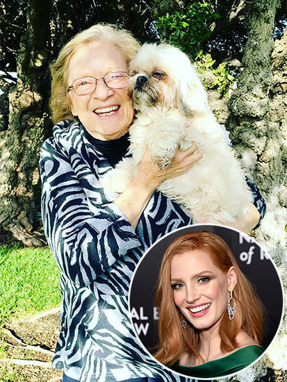 Jessica Chastain Tracks Down Her Grandma's Stolen Dog with the Help of the Internet