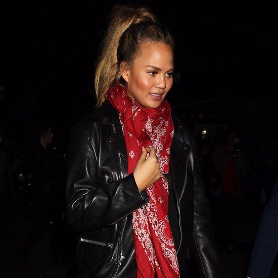Chrissy Teigen Wearing a Bandana Scarf