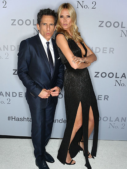 Ben Stiller Gives His Best 'Blue Steel' Face With Heidi Klum at Zoolander 2 Sydney Premiere