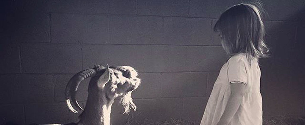 """Channing Tatum Shares a Photo of His """"Girl and Her Goat"""""""
