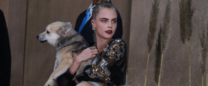 Cara Delevingne Brought a Special, Furry Friend to the Chanel Haute Couture Show