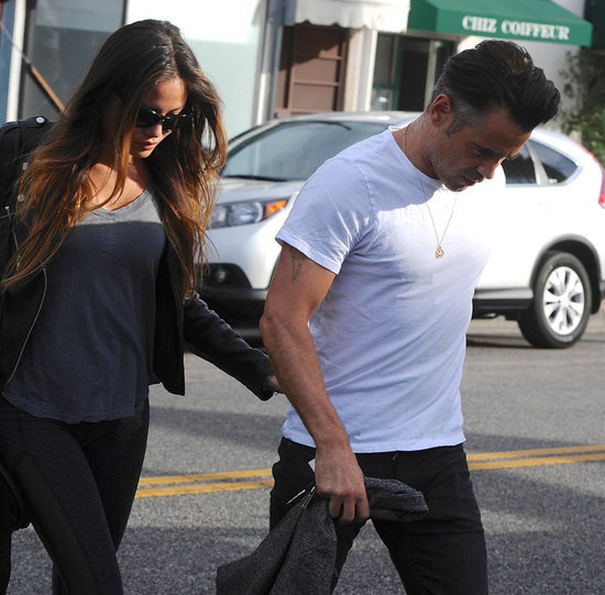 Colin Farrell holding hands with new girlfriend in Hollywood