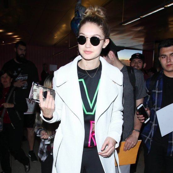 Gigi Hadid Wearing Versace Sweatshirt