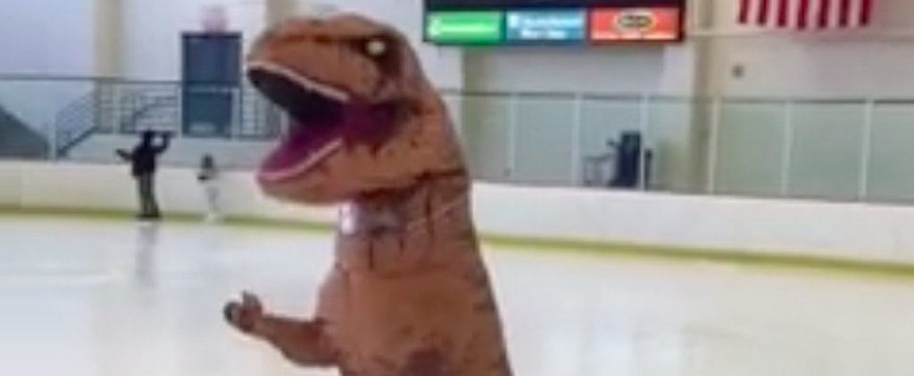 This Person Figure Skating in a Dinosaur Suit Will Leave You in Tears