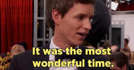 "Eddie Redmayne Said Filming ""Fantastic Beasts"" Was The Most Wonderful Experience"