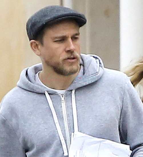 Charlie Hunnam out in LA shopping for furniture with girlfriend Morgana