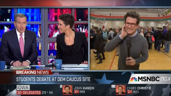 Brian Williams Apologizes After Woman Drops F-Bomb During MSNBC's Live Iowa Caucus Coverage