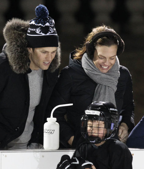 Tom Brady and Gisele Bundchen watch their son play hockey and Russell Wilson criticised for being unoriginal in Instagram post c