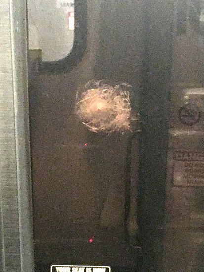 Bullet Hole? Amtrak Train Window Struck by Mysterious Object in Philadelphia