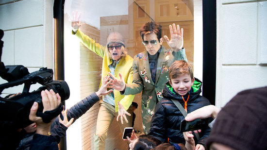 'Zoolander 2' Stars Ben Stiller and Owen Wilson Strike a Pose in Valentino Store Window