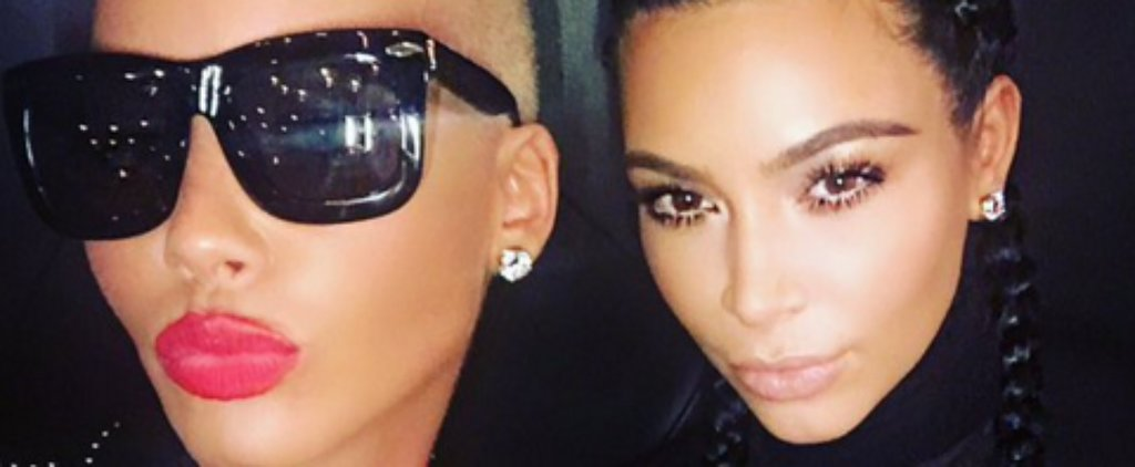 Kim Kardashian and Amber Rose Poke Fun at Their Men by Taking a Selfie Together