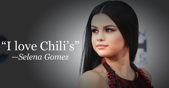 Apparently Selena Gomez And Taylor Swift Eat At Chili's All The Time