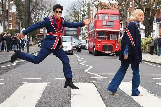 Derek Zoolander Is Currently Hopping Around London