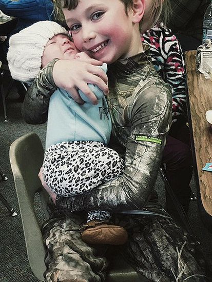 Bristol Palin Shares Adorable Photo of Baby Sailor Having Lunch With Tripp at School
