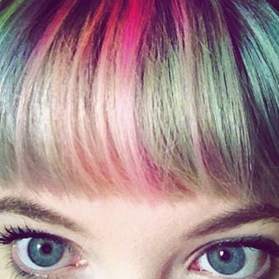 Rainbow Bangs Hair Colour Trend