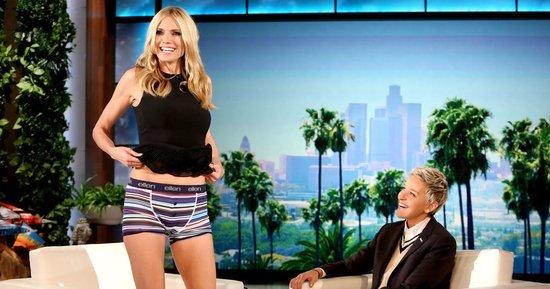 Heidi Klum Flashes Her Underwear During 'The Ellen DeGeneres Show' — on Purpose!