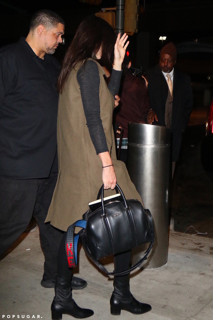 Kendall showed off an eye-catching monogrammed strap.