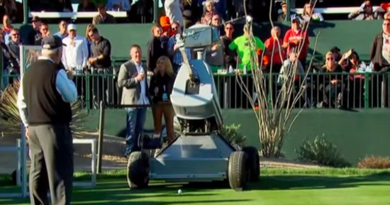 Let's Watch A Golf-Playing Robot Hit A Par 3 Hole-In-One