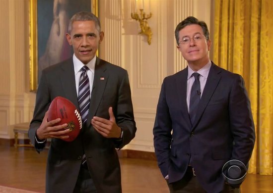 Colbert's Wild Post-Super Bowl Party