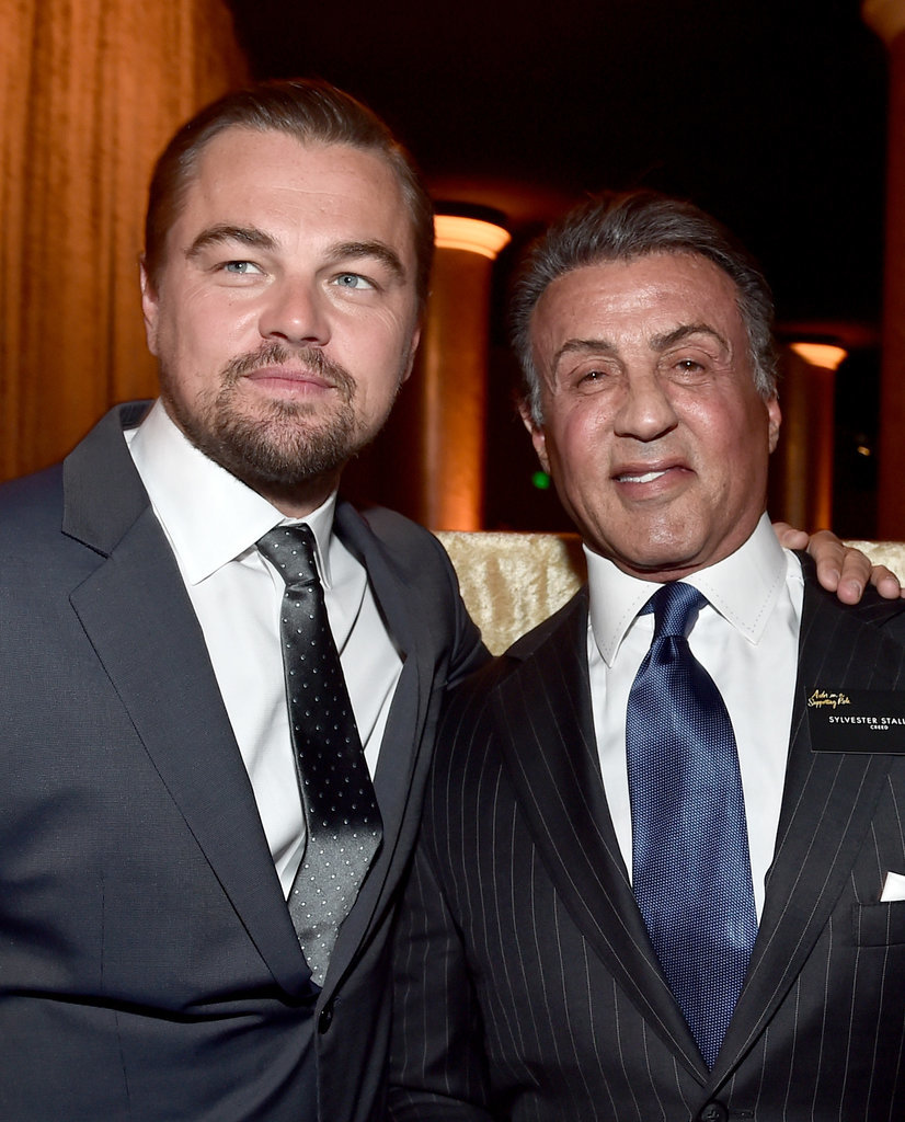 Pictured: Leonardo DiCaprio and Sylvester Stallone