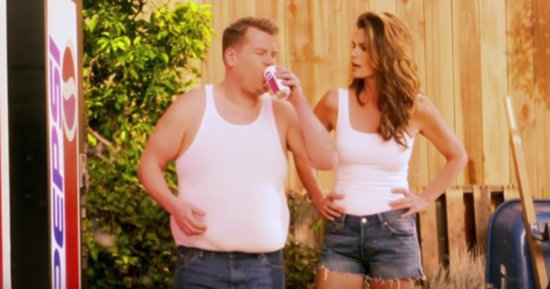 James Corden Steals Cindy Crawford's Spotlight In This Pepsi Ad Parody